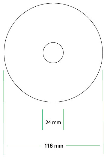 Maximum Printing Area Cd Label Design Template